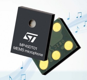 mp45dt01 digital microphone to eliminate noise in M2M applications