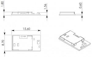 PAN1026 Dual Mode Bluetooth dimensions