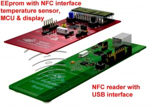 NFC Evaluation Kit NFC Reader NFC EEprom 300x215 NFC / RFID evaluation kit   free of charge
