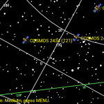 Glonass satellites on sky (Hannover, Germany)