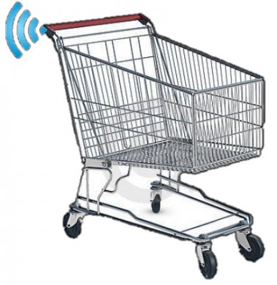 Shopping trolley tracking at supermarket