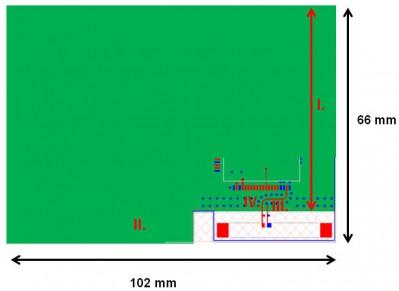 GSM chip antenna on PCB