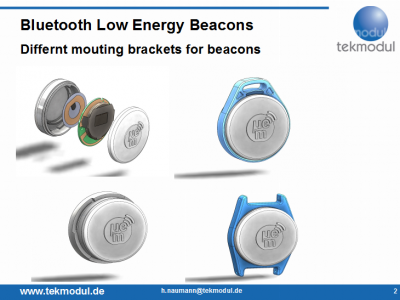 Bluetooth Low Energy beacon vers iBeacon
