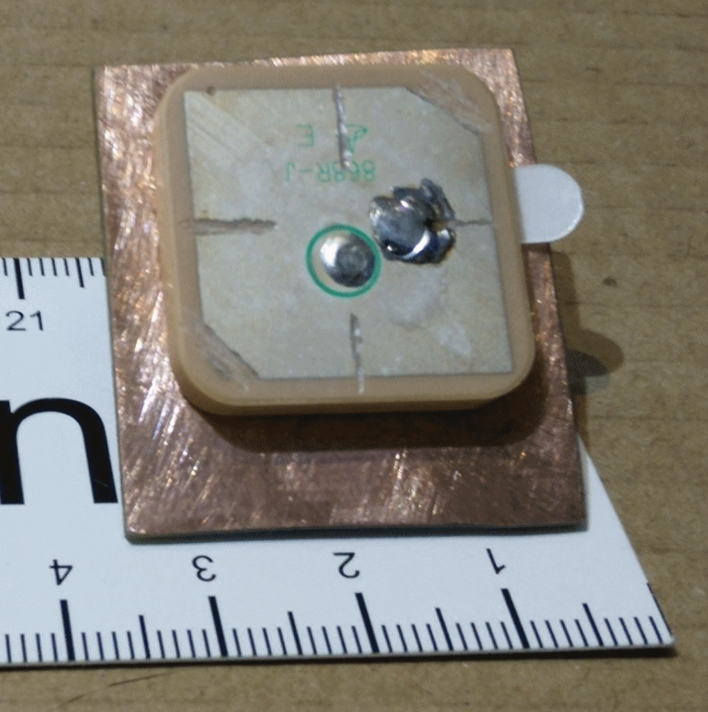 25x25x4 mm ceramic patch antenna for LPWAN