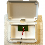 GPS chip loop antenna inside enclosure - open