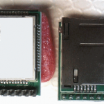 GSM module with helical GSM antenna on PCB