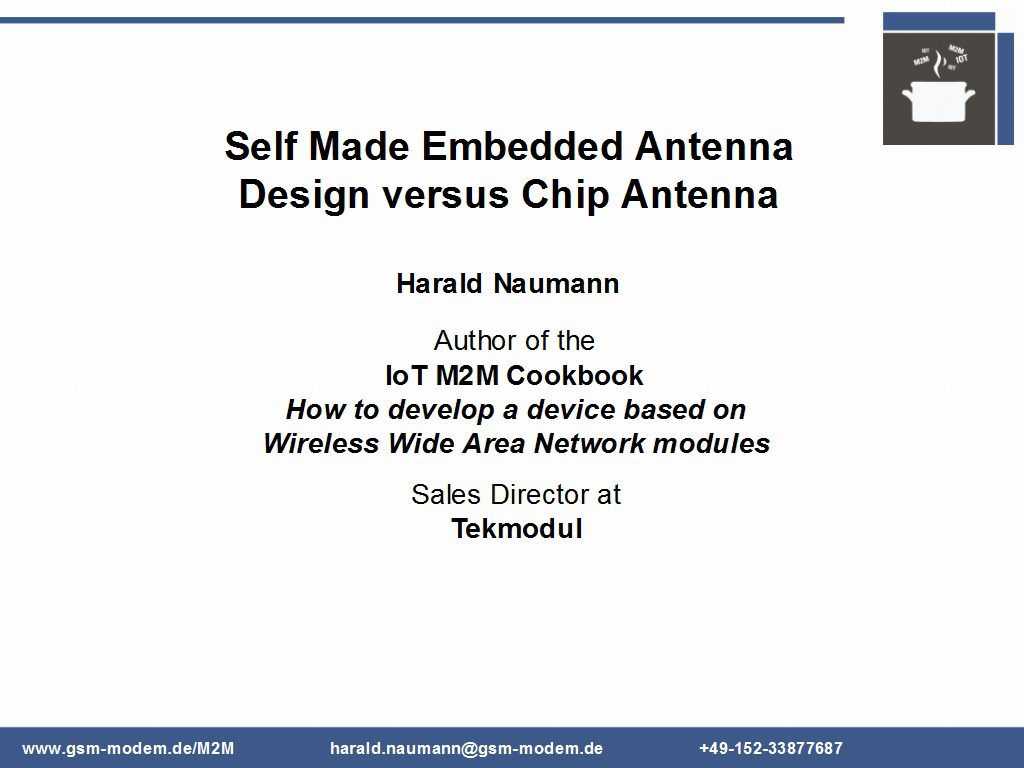 Self-made Embedded Antenna Design verus Chip antenna