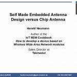 Self-made Embedded Antenna Design verus Chip antenna
