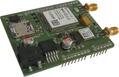 Arduino shiield with NB-IoT, LTE-Cat-M1, EGPRS and GPS