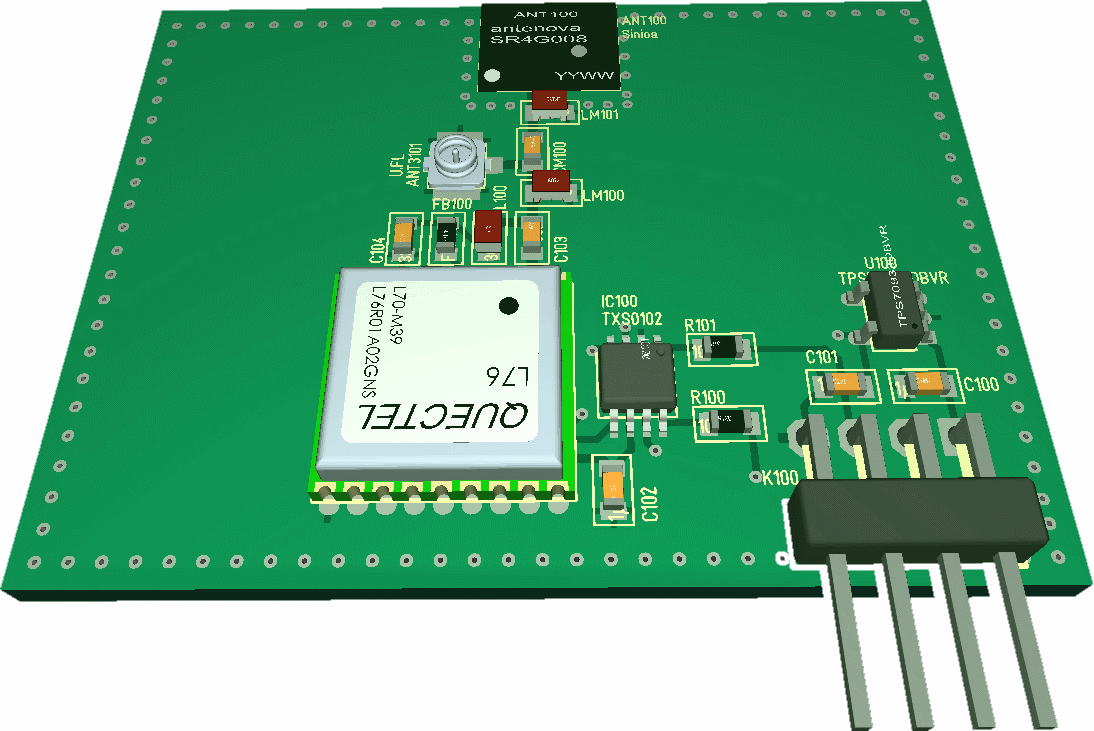 GNSS GPS antenna test PCB