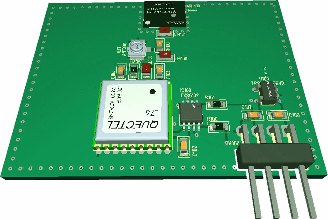 GNSS GPS antenna test PCB