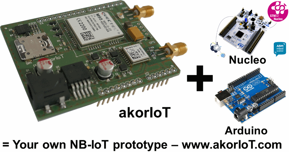 NB-IoT-module on Arduimo shield