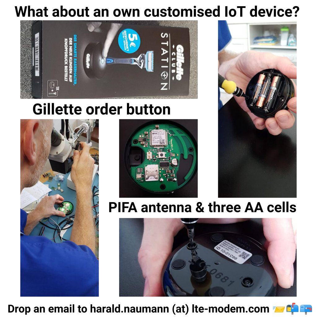 Opening of the Gilette order button
