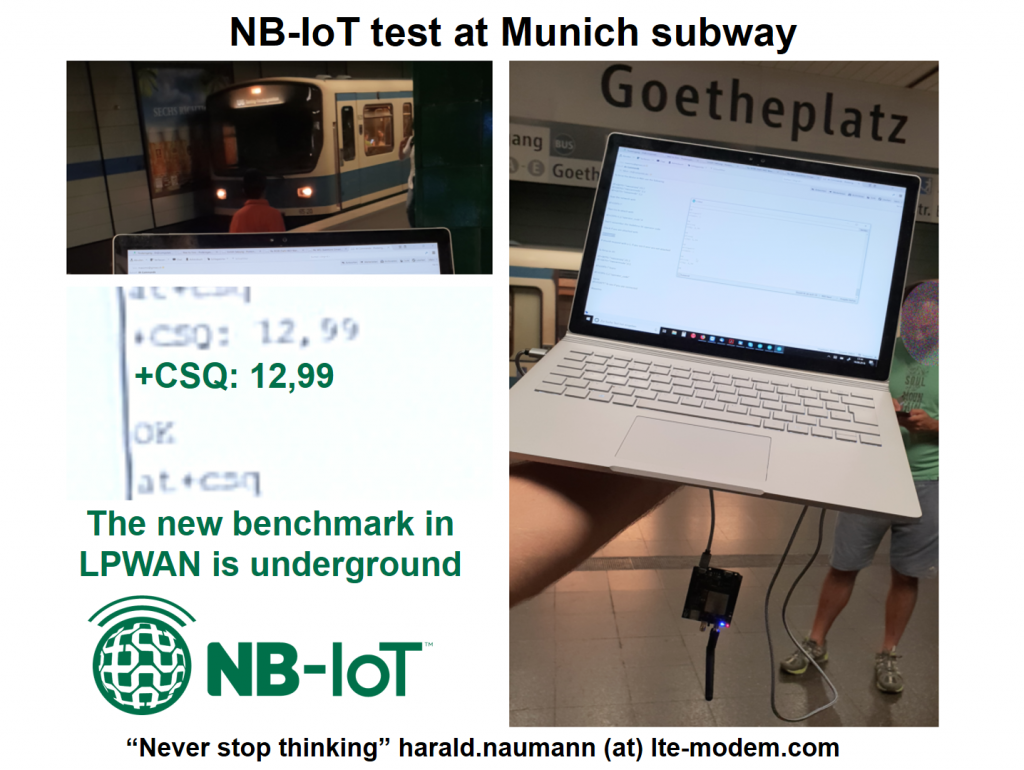 NB-IoT in the underground