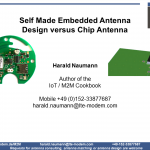 Self Made Embedded Antenna Designs versus Chip Antenna