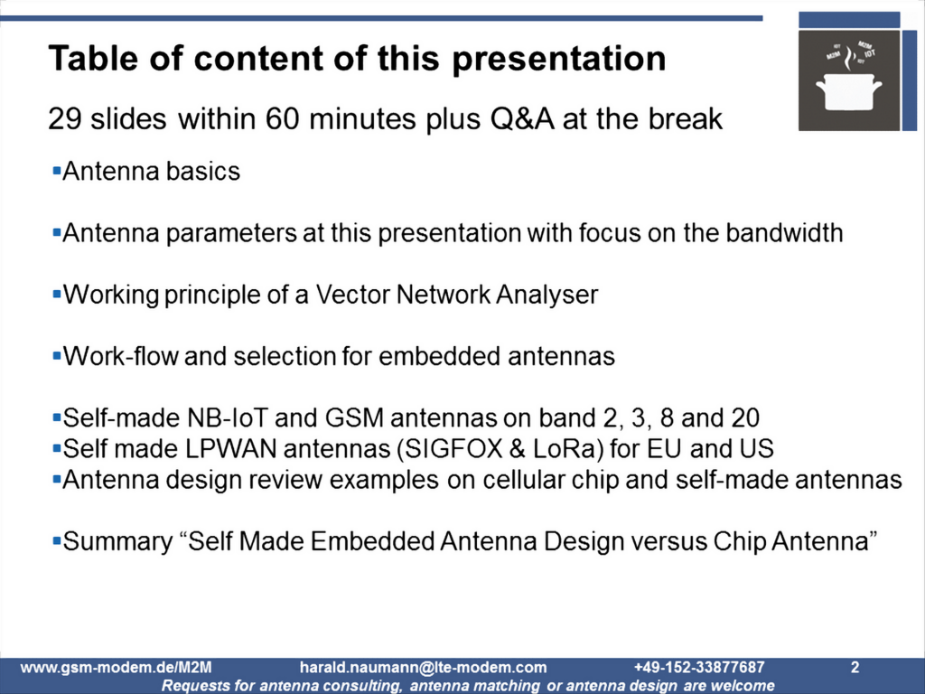 Self Made Embedded Antenna Designs versus Chip Antenna – ToC