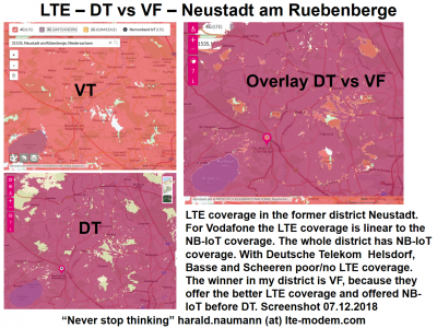 NB-IoT coverage in Neustadt am Rübenberge / Germany