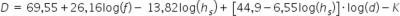 Hata propergation formula