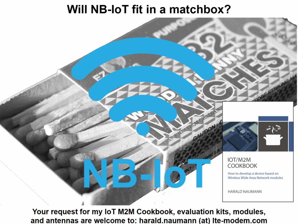 NB-IoT antenna design in a matchbox