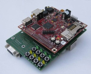 Beagleboard with adapter board for UMTS module