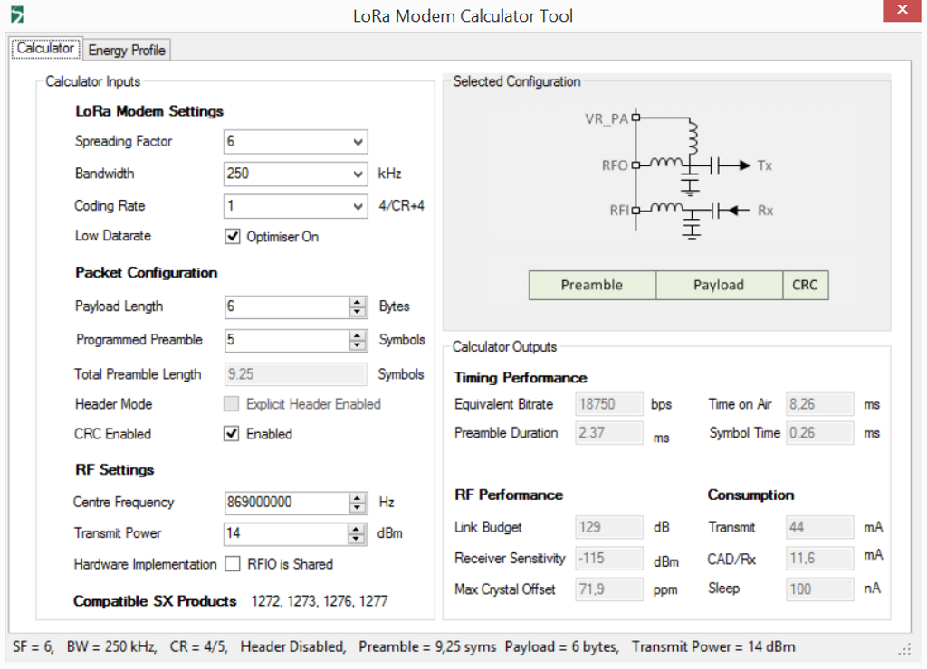 Calculation of power consumption for a weather station on LoRa radio