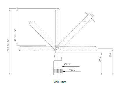 Antenna-GSM-helical-drawing