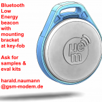 BLE Bluetooth Low Energy beacon at key-fob