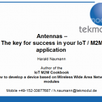 Antennas – The key for success in your IoT / M2M application