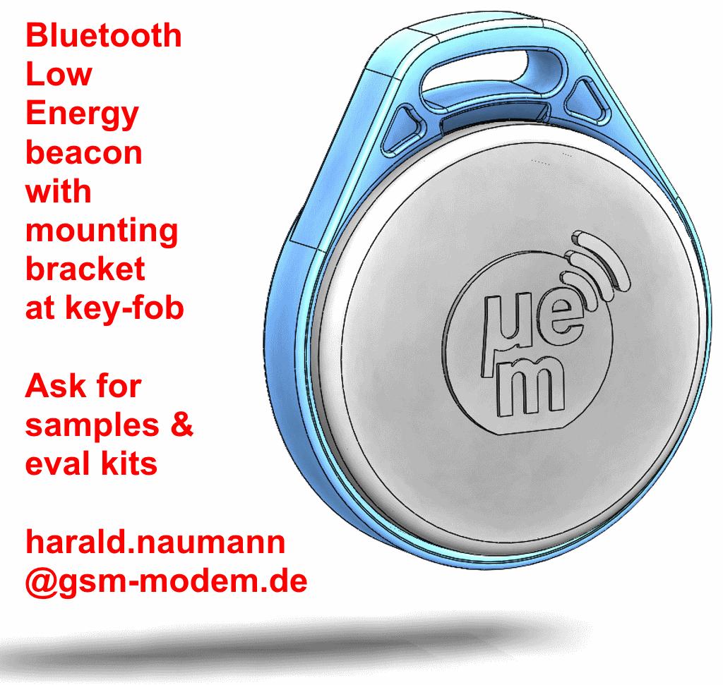 Lost Car Keys >> Bluetooth Low Energy Beacon at key-fob